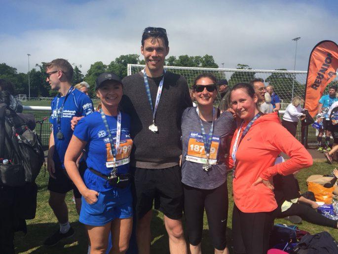 Edinburgh Marathon Festival relay team